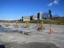 Gas wells near a farm in northern Pennsylvania, 2012.